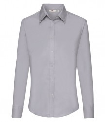 Image 3 of Fruit of the Loom Lady Fit Long Sleeve Oxford Shirt