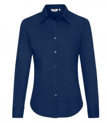 Image 4 of Fruit of the Loom Lady Fit Long Sleeve Oxford Shirt