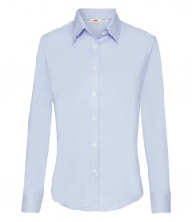 Image 5 of Fruit of the Loom Lady Fit Long Sleeve Oxford Shirt