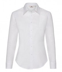 Image 6 of Fruit of the Loom Lady Fit Long Sleeve Oxford Shirt