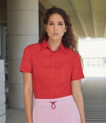 Fruit of the Loom Lady Fit Short Sleeve Poplin Shirt image