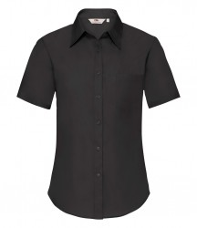 Fruit of the Loom Lady Fit Short Sleeve Poplin Shirt image