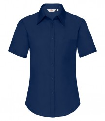 Image 4 of Fruit of the Loom Lady Fit Short Sleeve Poplin Shirt