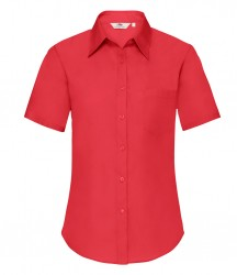 Image 5 of Fruit of the Loom Lady Fit Short Sleeve Poplin Shirt