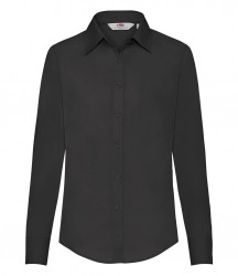 Image 2 of Fruit of the Loom Lady Fit Long Sleeve Poplin Shirt