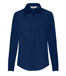 Image 4 of Fruit of the Loom Lady Fit Long Sleeve Poplin Shirt