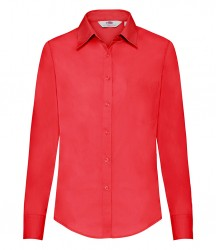 Image 5 of Fruit of the Loom Lady Fit Long Sleeve Poplin Shirt