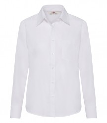 Image 6 of Fruit of the Loom Lady Fit Long Sleeve Poplin Shirt