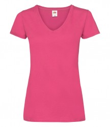 Image 4 of Fruit of the Loom Lady Fit Value V Neck T-Shirt