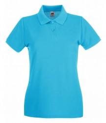 Image 9 of Fruit of the Loom Lady-Fit Premium Cotton Piqué Polo Shirt