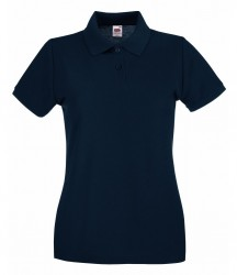Image 4 of Fruit of the Loom Lady-Fit Premium Cotton Piqué Polo Shirt