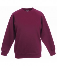 Image 11 of Fruit of the Loom Kids Classic Raglan Sweatshirt