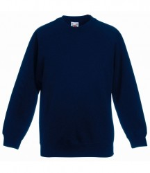 Image 12 of Fruit of the Loom Kids Classic Raglan Sweatshirt