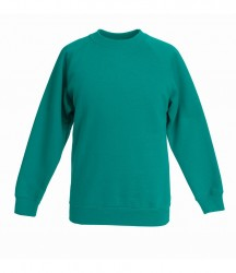 Image 13 of Fruit of the Loom Kids Classic Raglan Sweatshirt