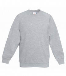 Image 14 of Fruit of the Loom Kids Classic Raglan Sweatshirt