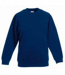Image 4 of Fruit of the Loom Kids Classic Raglan Sweatshirt