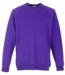Image 5 of Fruit of the Loom Kids Classic Raglan Sweatshirt