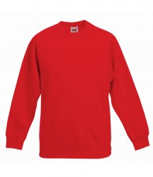 Image 6 of Fruit of the Loom Kids Classic Raglan Sweatshirt