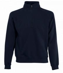 Image 4 of Fruit of the Loom Premium Zip Neck Sweatshirt