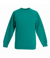 Image 3 of Fruit of the Loom Kids Premium Raglan Sweatshirt