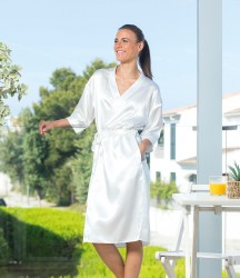 Towel City Ladies Satin Robe image