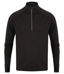 Tombo Long Sleeve Zip Neck Performance Top image