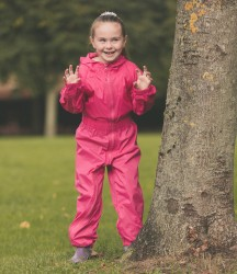 Trespass Kids Button Rain Suit image