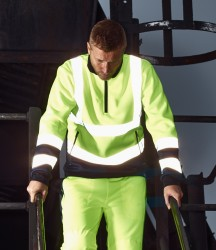 Dickies Hi-Vis Two Tone Zip Neck Top image