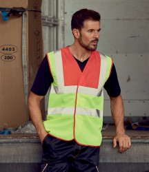Yoko Hi-Vis Two Band and Braces Waistcoat image