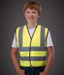 Yoko Kids Hi-Vis Two Band and Braces Waistcoat image