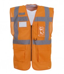 Yoko Hi-Vis Top Cool Open Mesh Executive Waistcoat image