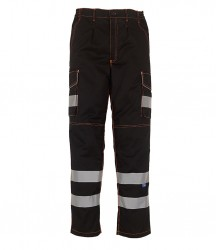 Yoko Hi-Vis Cargo Trousers with Knee Pad Pockets image
