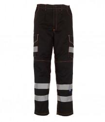 Yoko Hi-Vis Cargo Trousers with Knee Pad Pockets image